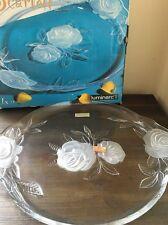 Luminarc Scarlett Decorative Crystal/Glass Plate ~ Made in France