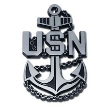 U.S. Navy Chrome Auto Emblem (USN Anchor) Officially Licensed