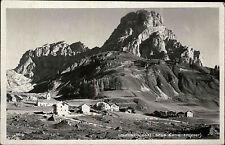 Colfosca und Sass Songher Südtirol Italien s/w AK 1932 gelaufen Bergdorf Berge