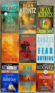 DEAN KOONTZ PAPERBACK BOOK LOT OF 9 NOVELS THRILLER HORROR SUSPENSE SHIPS FREE!