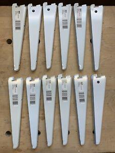 Twin Slot Shelving Uprights & Brackets White Strong Rack Shelf - NO RESERVE