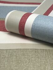 Multicolour Vertical Striped Paste The Wall Wallpaper - Red, Blue, Green & Grey