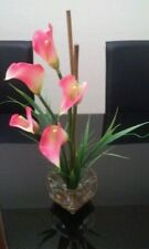Nearly Natural 1118-PK Calla Lilly Liquid Illusion Silk Flower Arrangement Pink