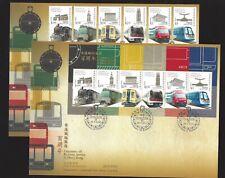 China Hong Kong 2010 FDC Centenary of Railway Stamp Train set
