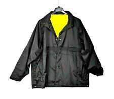 Blauer REVERSIBLE Reflective Yellow/Black RAIN JACKET 29661  XL Police