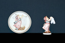 """Hummel - Figurine & Matching Collectors Plate - """"WASH DAY"""" #321 Mint Condition"""