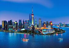 366x254cm Carta da Parati per Camera da Letto Murale Cina Shanghai Profilo