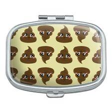 Cute Poop Pattern Rectangle Pill Case Trinket Gift Box
