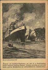 HAMBURG ~1930 Hafen Schiffe & Seefahrt AK Dampfer Steamer Shiff Ship Harbour