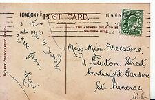 Genealogy Postcard - Family History - Freestone - St Pancras - London  U4548
