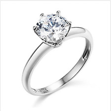1.25 Ct Round Cut Solitaire Engagement Wedding Promise Ring Solid 14K White Gold