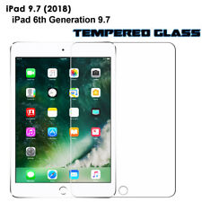 New iPad 6th Gen Screen Protector Clear Tempered Glass for Apple iPad 6th 2018