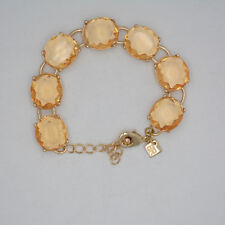 Banana Republic jewelry orange cut crystals tennis link bracelet lobster bangle
