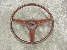 Original Pontiac Brown Saddle 3 Spoke Vinyl Steering Wheel 73 74 75