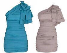 BNWT Forever Unique Bianca One Shoulder Dress UK Size 8 Jade