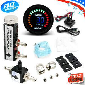 0-3 BAR Manual Boost Controller Kit with 52mm Electronic BOOST GAUGE Smart Turbo