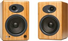 Audioengine A5+ Natural Bamboo Premium Powered Bookshelf Speakers NEW - Warranty