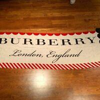 Burberry London Women's Brown Silk Blend Logo Iconic Print Scarf~RTL$595