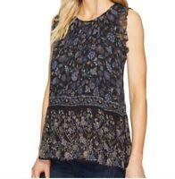 NEW Joie Celadine B Ruffle Silk Sleeveless Blouse SZ Small Floral Print