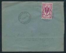 1943 Cameroun Cover Mailed Within Cameroun - Ebolowa to Kribi