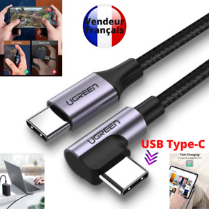 ⚡Câble charge rapide USB type C coude, angle droit - 90° - UGREEN - 50cm - 1m⚡