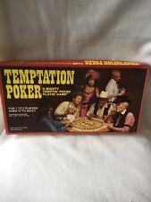 2284) Temptation Poker Game Gambling Board Game 1982 WHITMAN complete