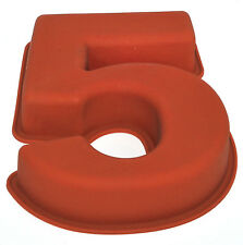 NR 5 X Numbers Shaped Silicone Birthday Cake Mould Kids Baking Tray Sugarcraft