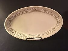 "Hallmark 2014 Christmas 12"" Oval Serving Platter With Snowflake Border"