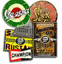 Vespa paquete de pegatinas por Voodoo Calle ™, impermeable de vinilo, calidad, Rata Mira, Rusty