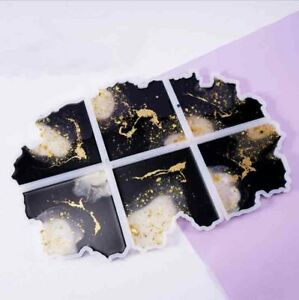 Silicone Coaster Mold Resin Casting Jewelry Making Epoxy Mould Craft Tool DIY 3D