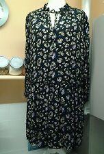 PLUSE SIZE UK SIZE 20 FLOWER PRINT TEA DRESS LONG WIDE SLEEVES B.N.W.T.