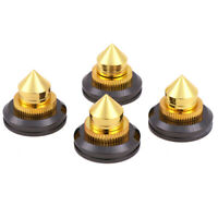 4x Speaker spike isolation stand cone base pads stick-on audio amplifier SS