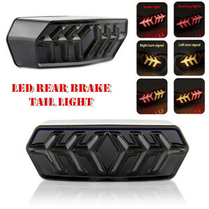 12V Motorcycle Dirt Bike LED Stop Rear Tail Light Turn Signal Lamp ABS Universal