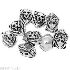 PD: 20 European Antiksilber Löwe Gesicht Spacer Perlen Bead