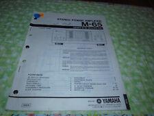Yamaha M-65 Factory Service Manual (Original, Paper)