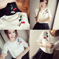 Harajuku Blouse Bee T-Shirt Women Round Neck Short Sleeve Top Tees Summer TopsNT