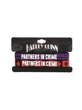 DC Comics Batman Joker & Harley Quinn Partners In Crime HA Rubber Bracelet Set