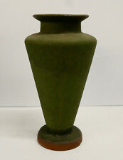 Contemporary Arts & Crafts Matte Green Tall Vase