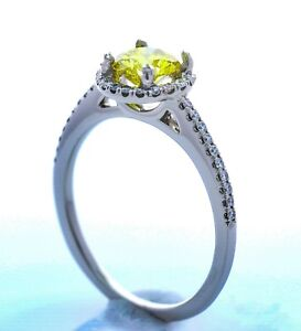 Platinum + Diamond Halo Engagement Setting  - (Size -8.50) **Setting Only**