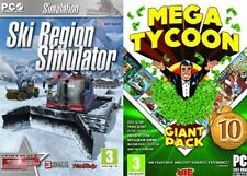 ski region simulator & mega tycoon 10 game giant pack new&sealed