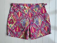 $198 POLO RALPH LAUREN Classic Swim Shorts Magenta / Yellow Multi ( 32 )