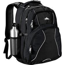 "High Sierra Swerve 17"" laptop Computer Poly Canvas Backpack - Black"