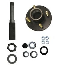 ONE Axle stub end 2000# 4 x 4 Hub Axel Kit with Square Spindles Side car Trailer