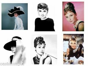AUDREY HEPBURN reprint,iron on transfer or sticker, 12 choices of picture