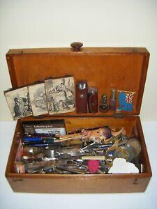 Vintage Junk Drawer LOT Forks Knives Pens Signs Etc (AS-IS)