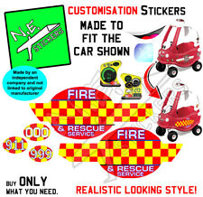 Replacement stickers TO FIT Little Tikes FIRE Ride 'n Rescue Cozy Coupe toy car