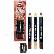 W7 Contour Sticks Set Kit Bronzer Bronze Highlighter Contouring Crayon Cream