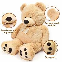 39'' Brown Plush Teddy Bear Stuffed Animal Toy Birthday Valentines Gift 3.3 Feet