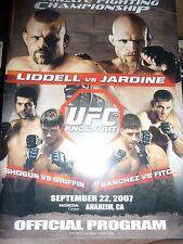 UFC 76 Chuck Liddell Vs Keith Jardine Official Program Shogun Sanchez Programme