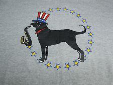 Martha's Vineyard Black Dog T-Shirt Bill & Hillary Clinton's Dog Buddy 2000 Sz L